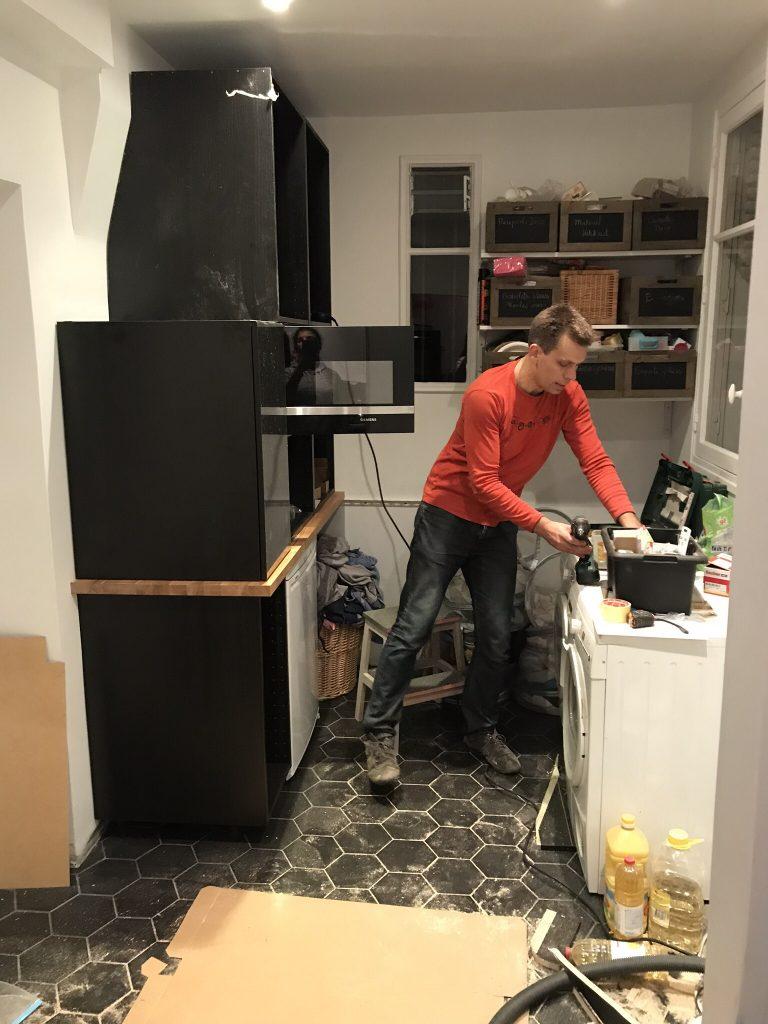 Arrière-cuisine - les travaux
