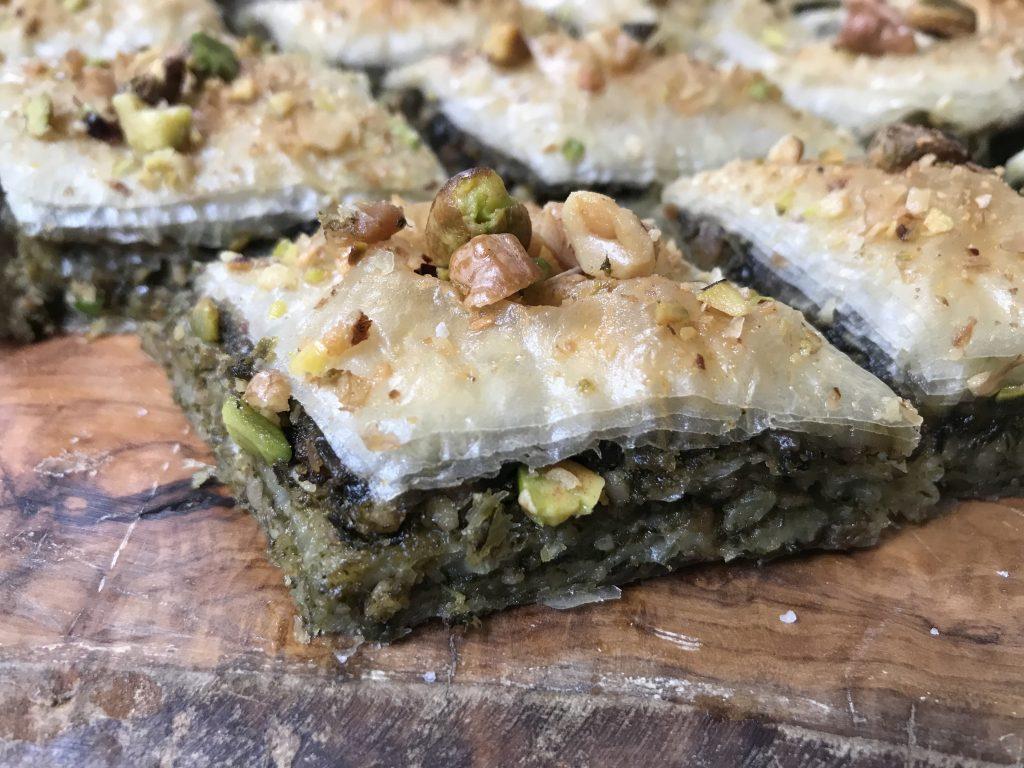 baklavas salés - baklavas aux épinards