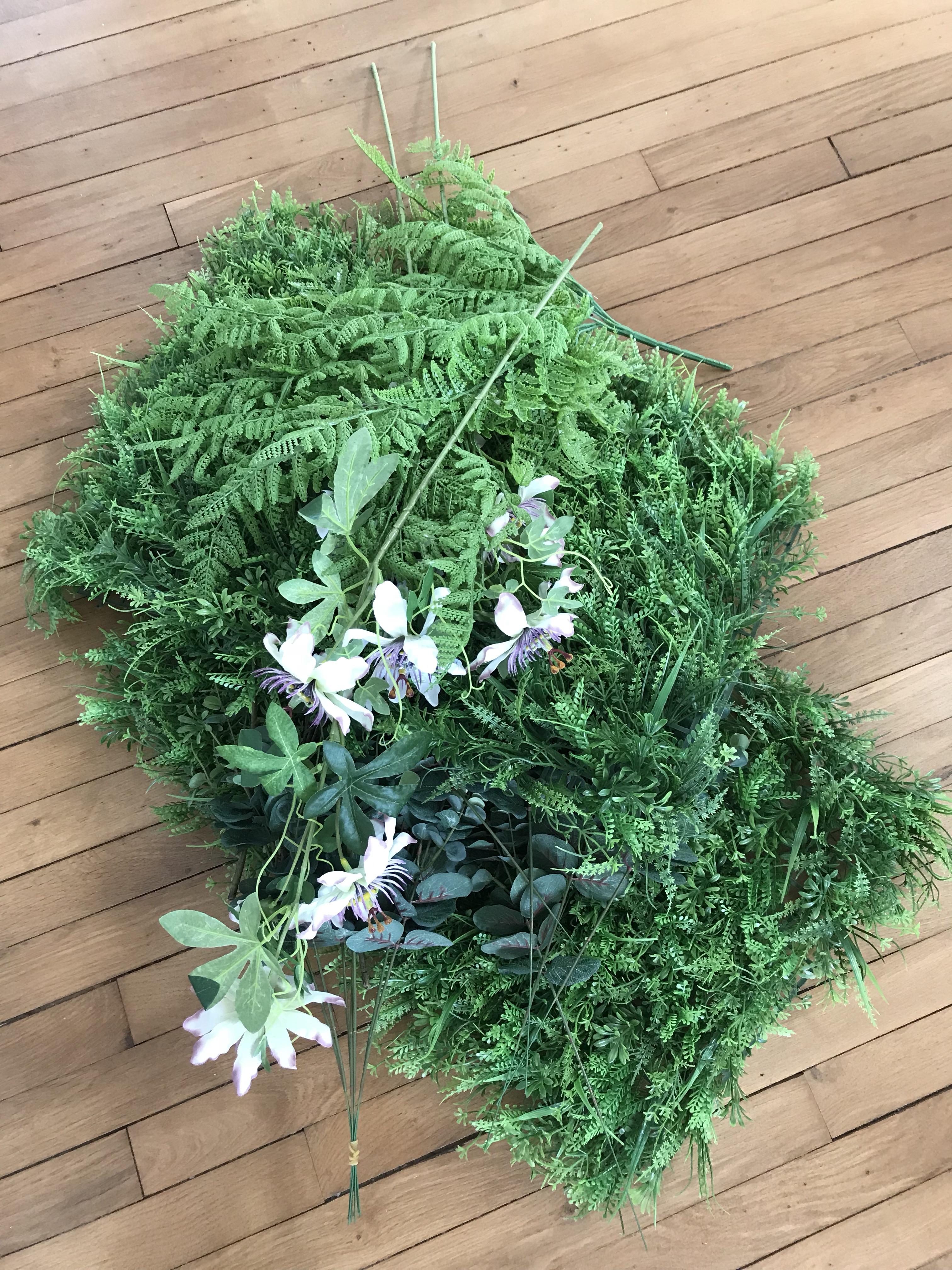 tableau végétal - plantes artificielles