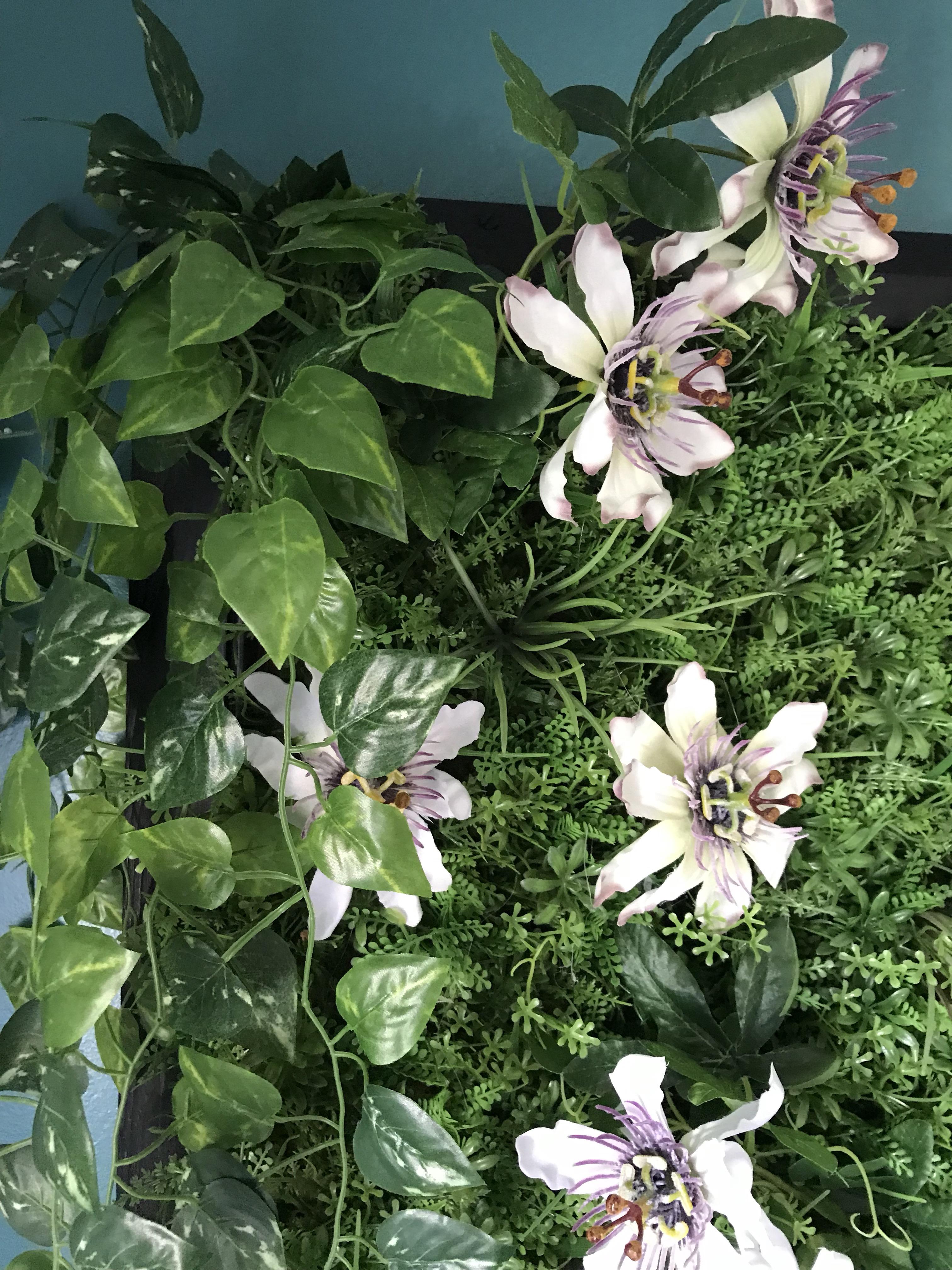 tableau végétal - fleurs artificielles