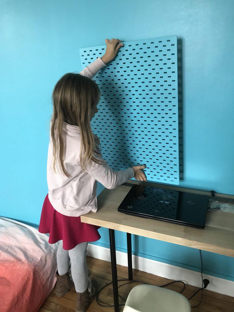 Chambre d'enfant créatif - bureau