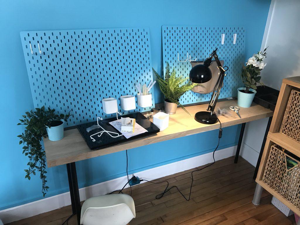 Chambre d'enfant créatif - atelier à aménager