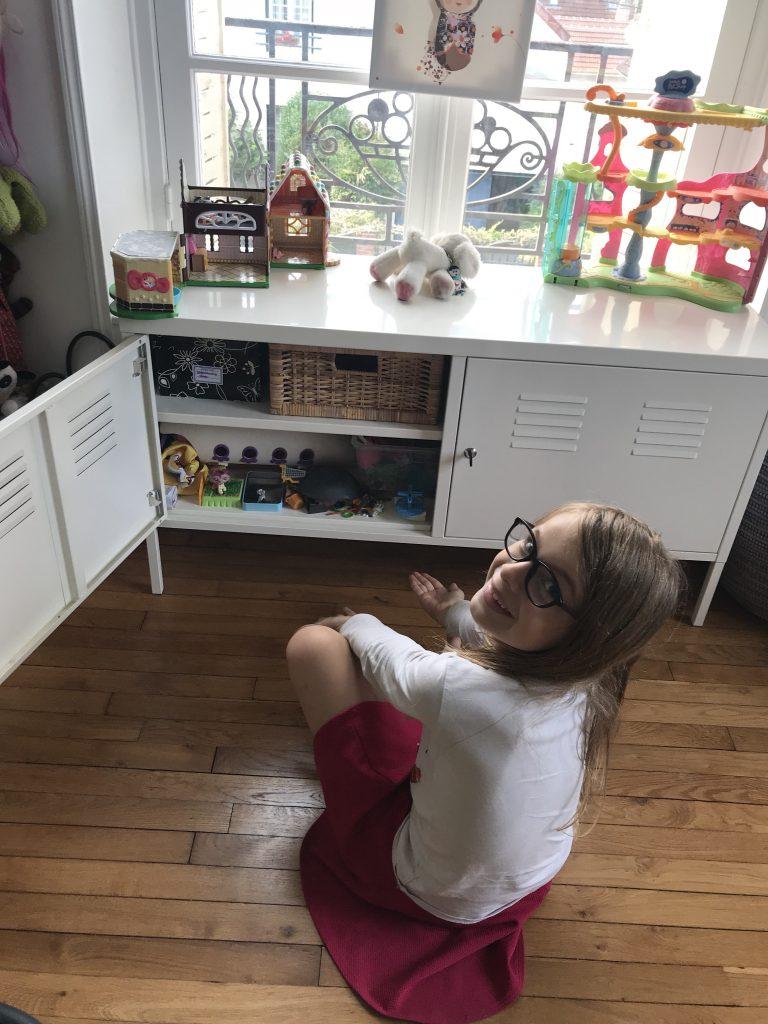 Chambre d'enfant créatif - rangement