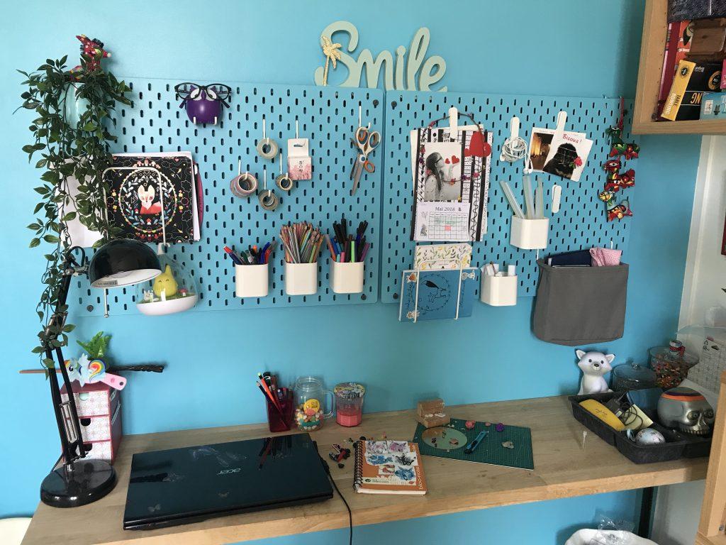 Chambre d'enfant créatif - grille d'atelier