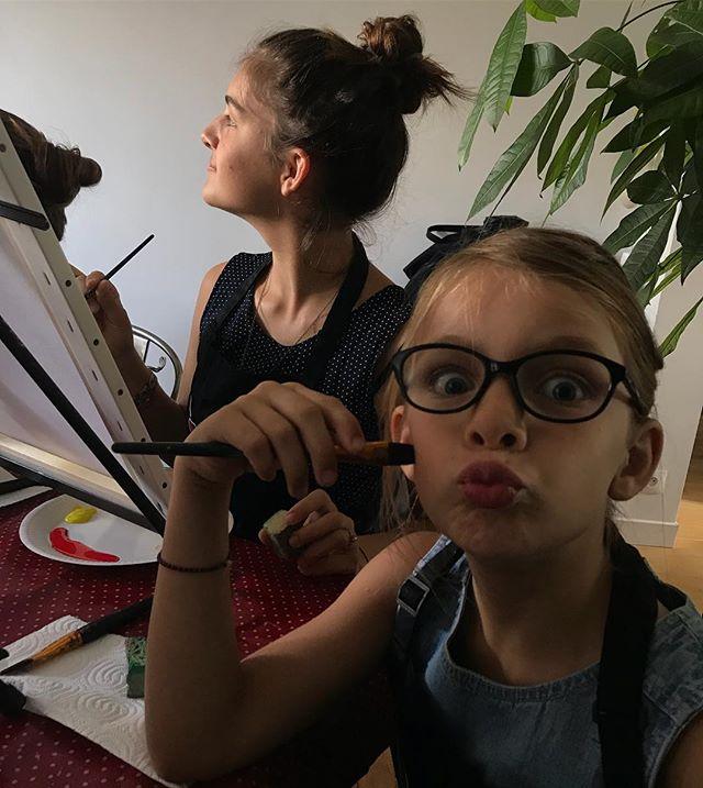 Atelier peinture avec mes filles et des copains ! Merci @happy.paint.fr !