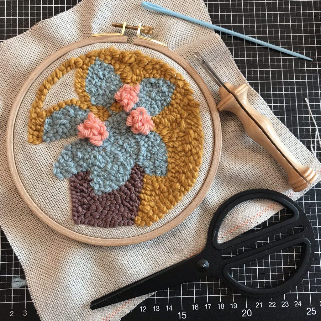 Atelier créatif punch needle