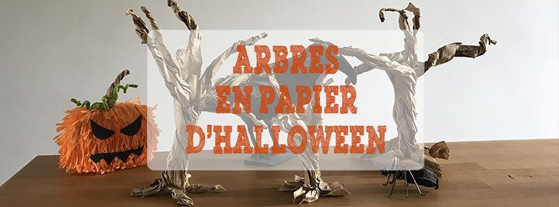 arbre en papier d'Halloween
