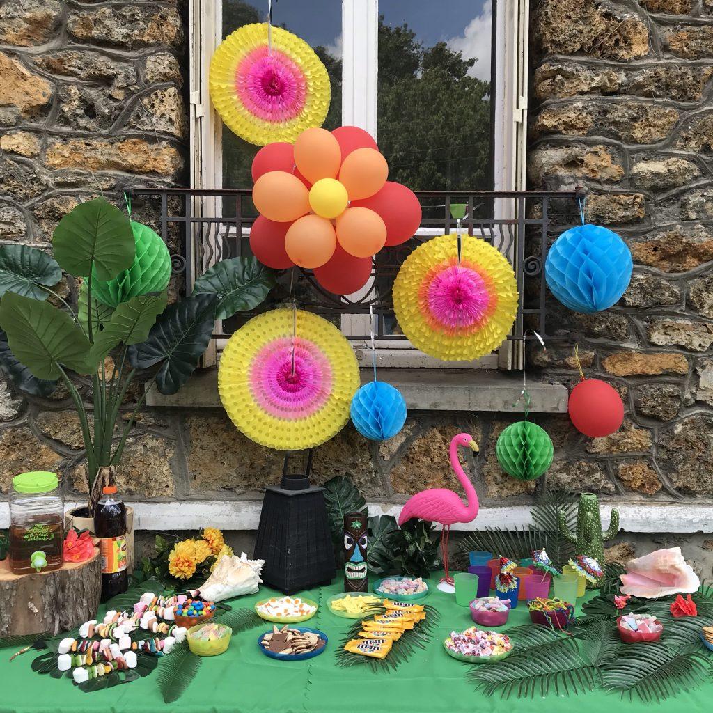 anniversaire koh lanta - décoration