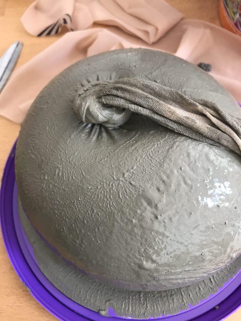 Citrouille en béton - collant