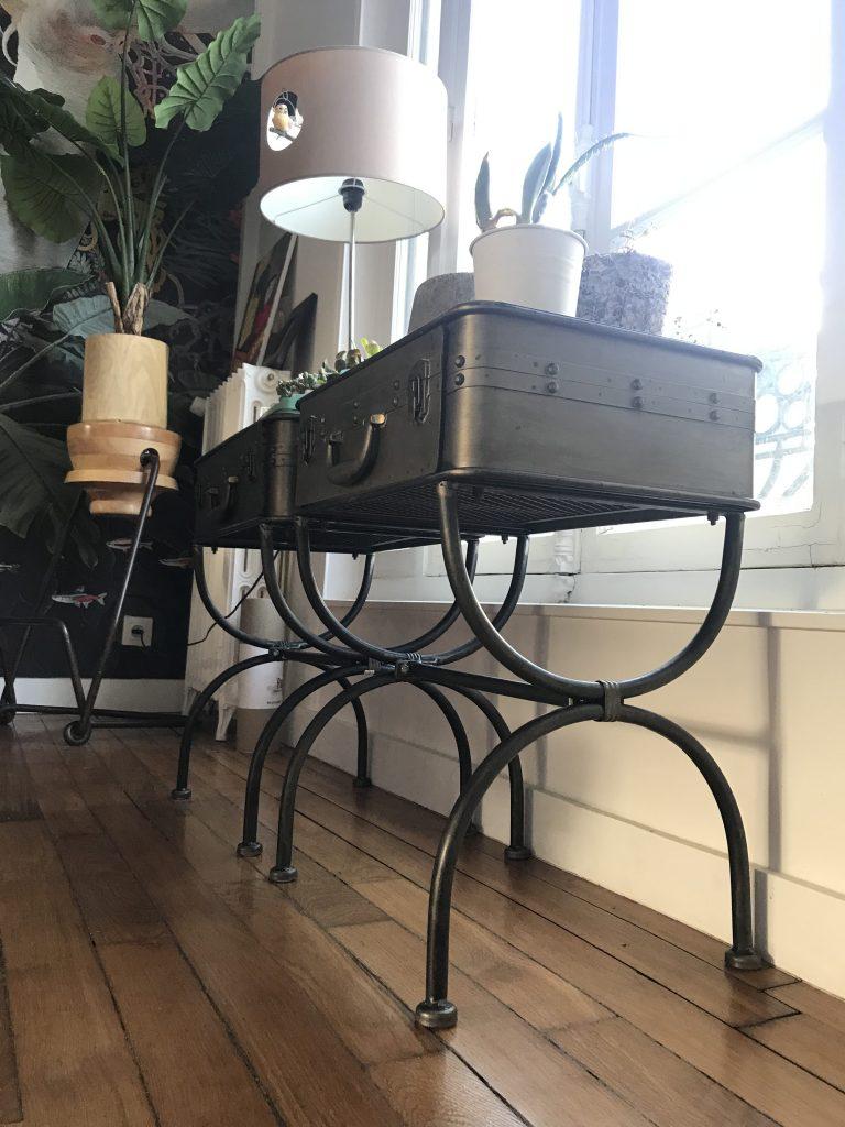 petite table basse metallique