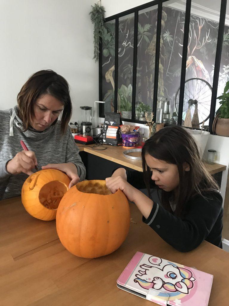 Décoration d'Halloween - décoration citrouille