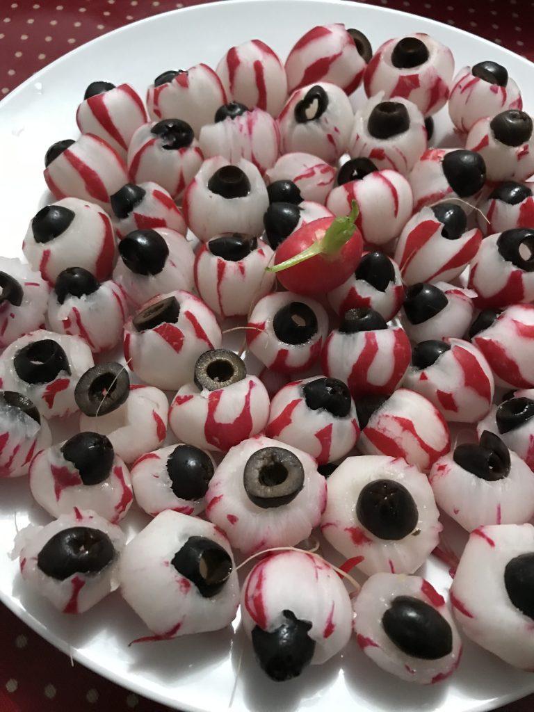 Décoration d'Halloween - yeux radis olive