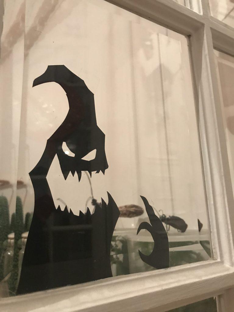 Décoration d'Halloween - Papier fenêtre