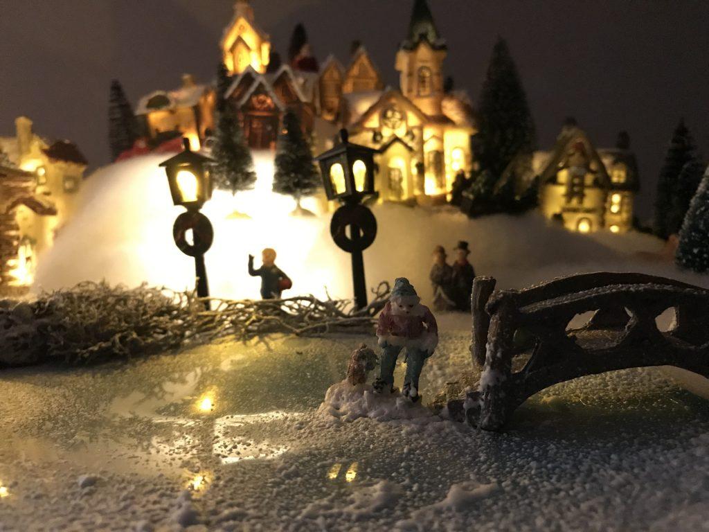 village de Noël facile : décoration