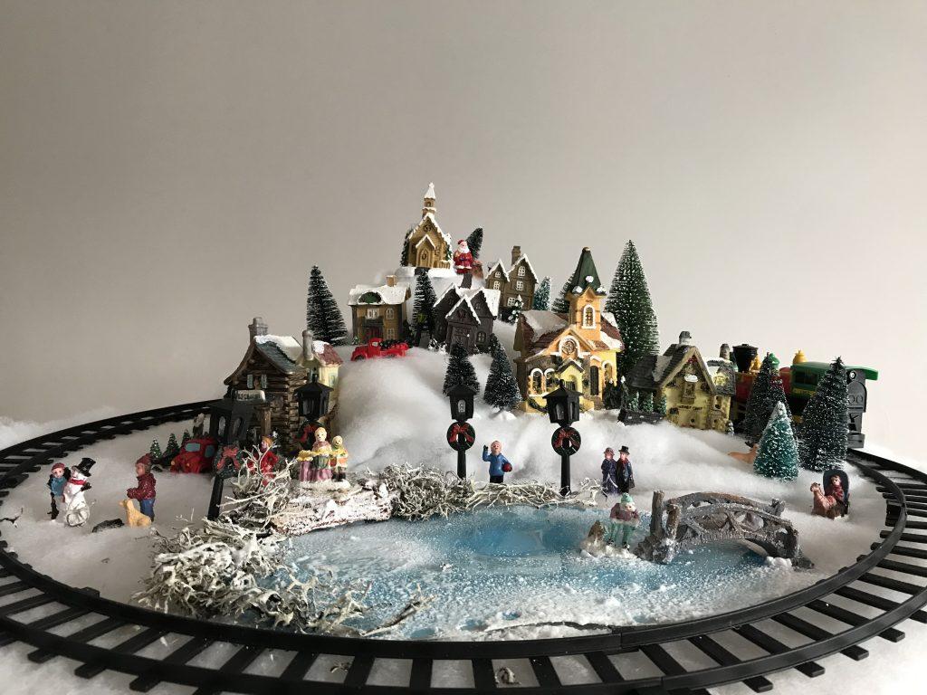 fabriquer un village de Noël facile : DIY