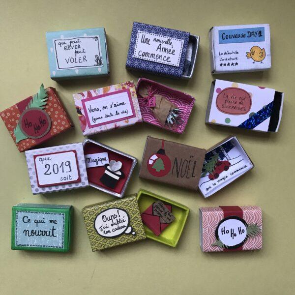 atelier créatif pour fabriquer des boites contenant un chouette message