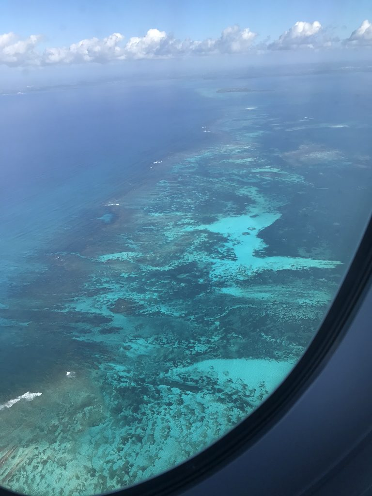 Arrivée en avion en Guadeloupe