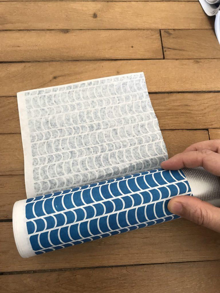 enrouler la bande de papier