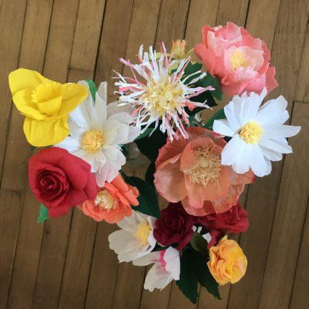 Atelier de fleurs en papier