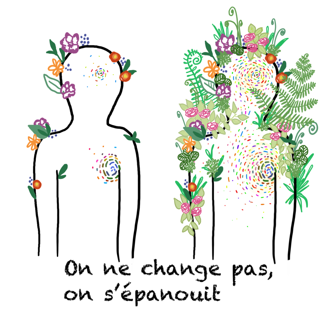 on ne change pas, on s'épanouit