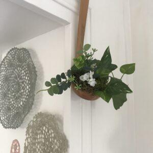 louche transformée en pot de fleur