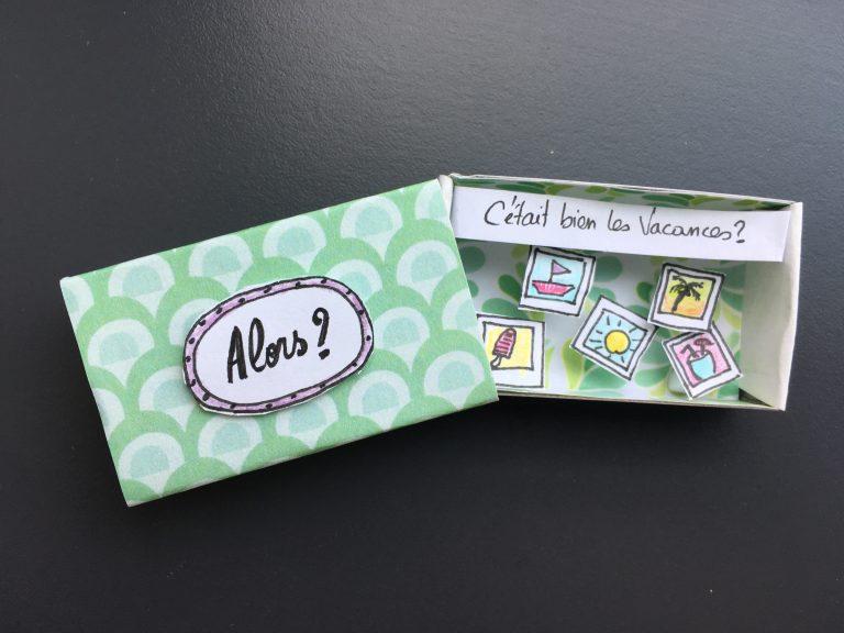 fabriquer une boite pour envoyer un message d'amitié