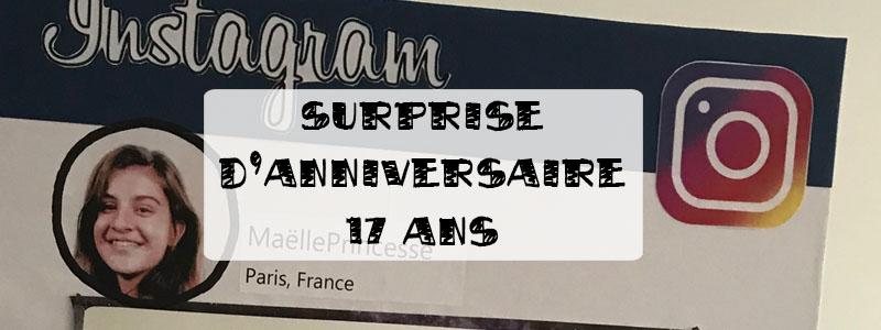 Surprise d'anniversaire de 17 ans