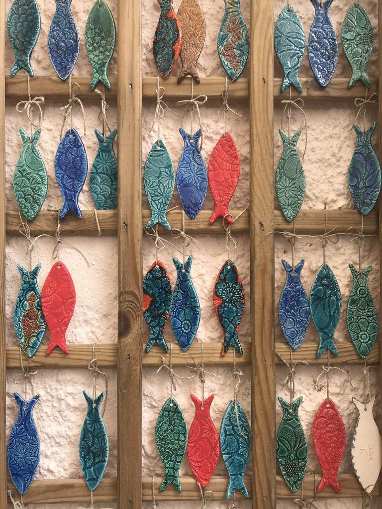 poissons en céramique