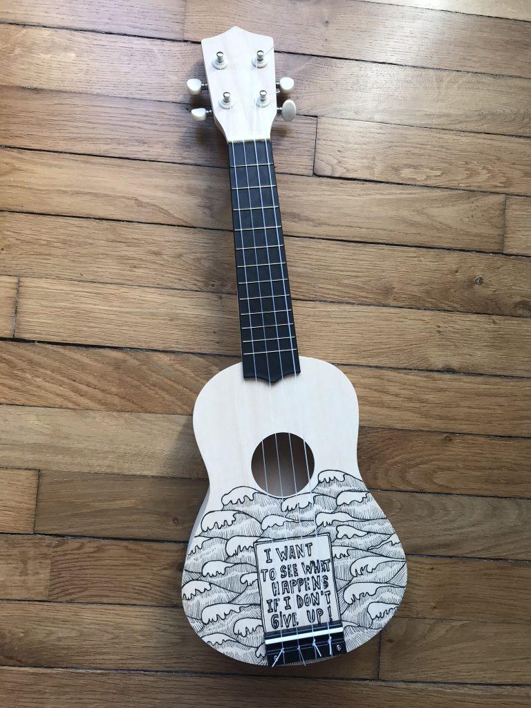 étape ukulele en kit
