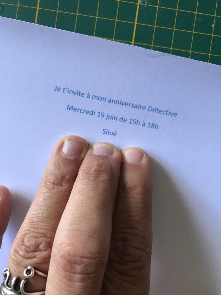 imprimer l'invitation en bleu