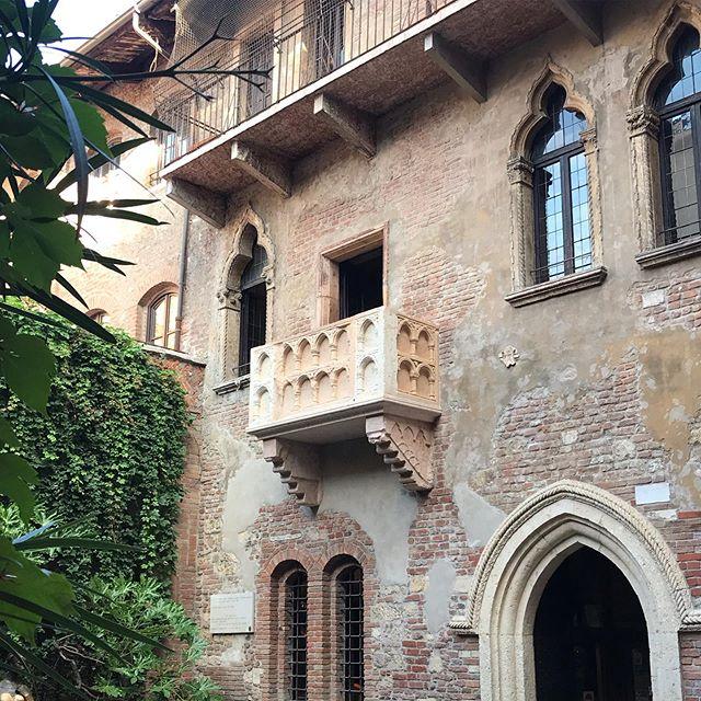 Vérone balcon de Roméo et Juliette