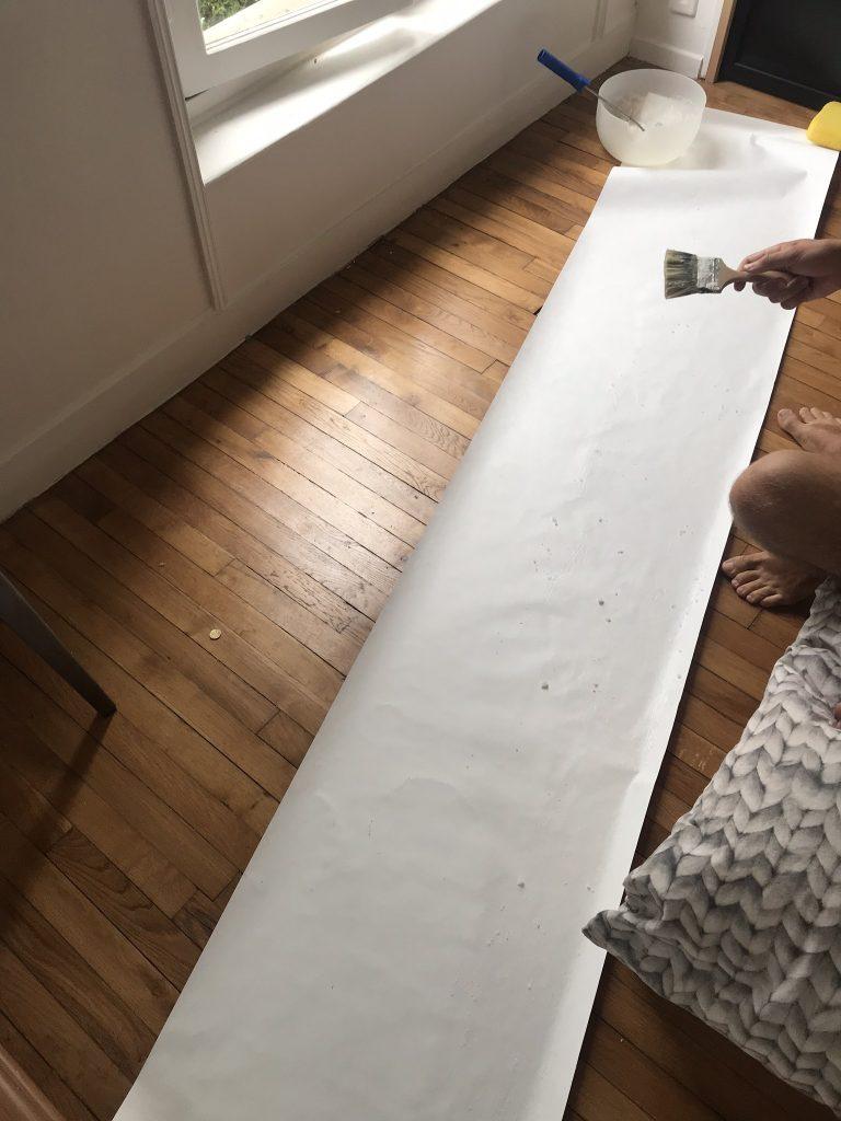 encollage du papier peint