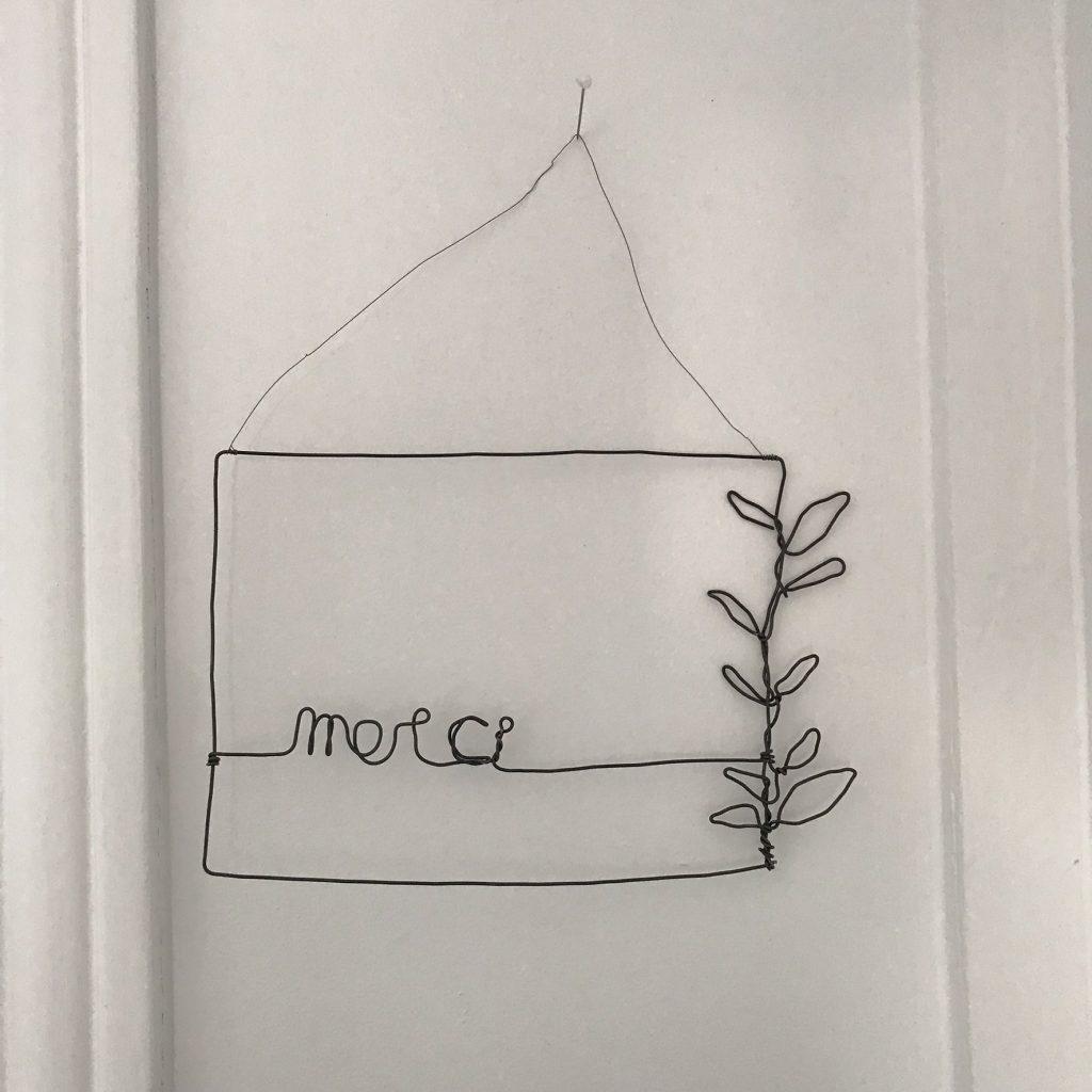 carte postale en fil de fer