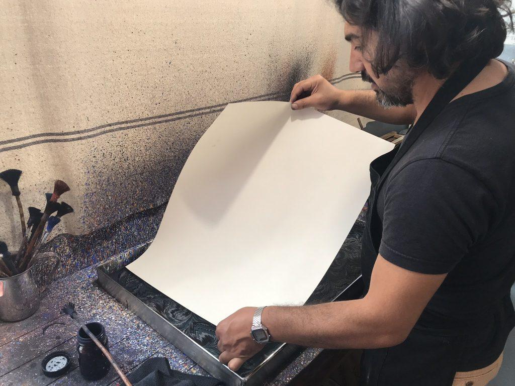 ateliers créatifs originaux papier marbré