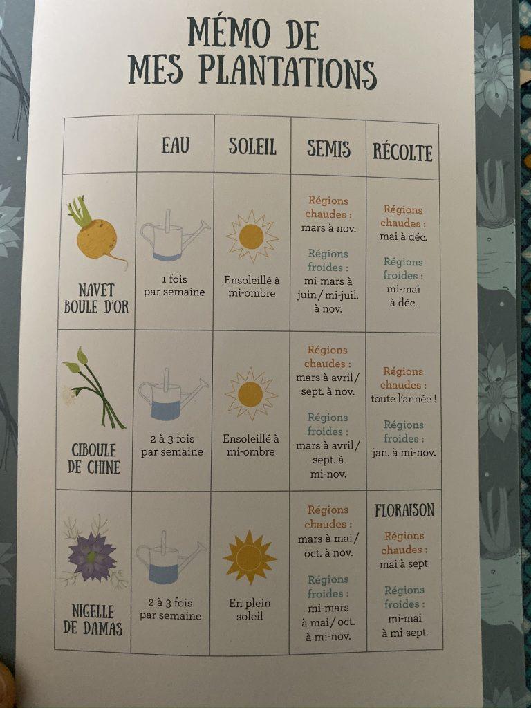 box à planter graines