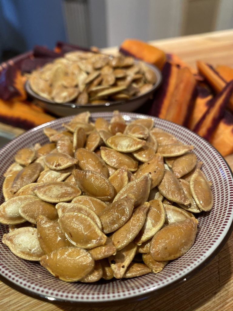graines de courge grillées au four