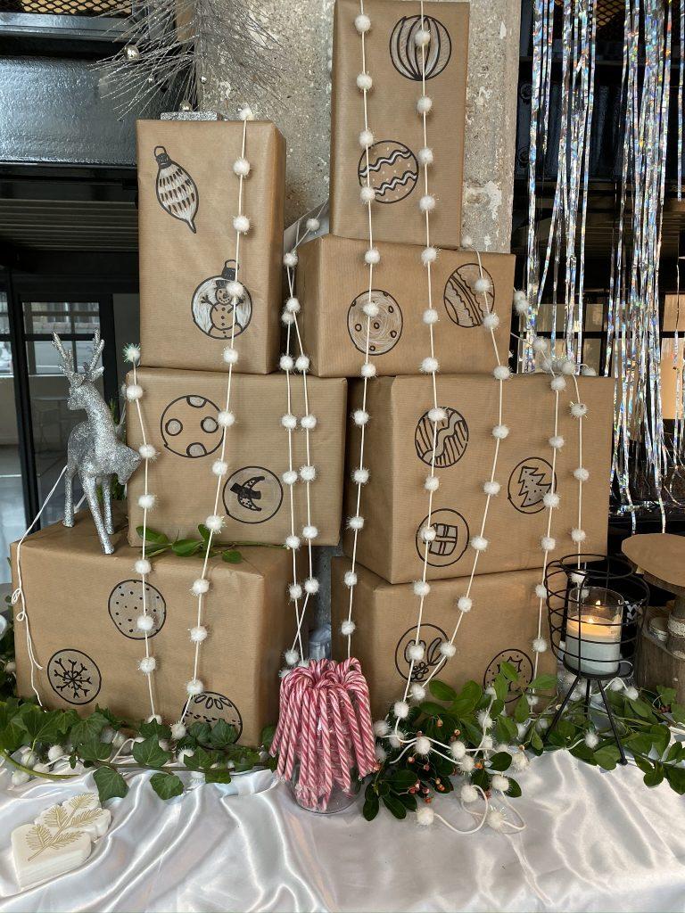 Habiller Un Pilier En Beton décoration de buffet de noël : une première pour moi