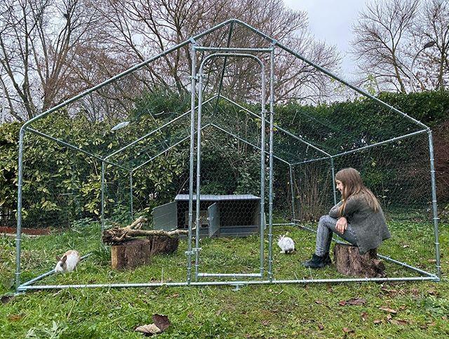 Enclos extérieur pour lapin