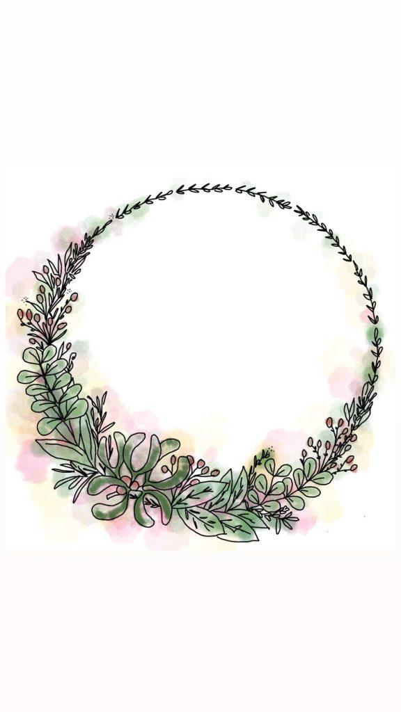 dessin couronne cercle fleur