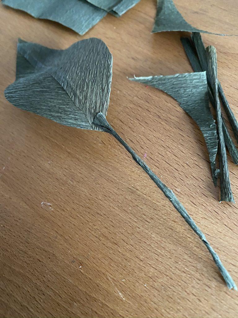 feuilles en papier crépon