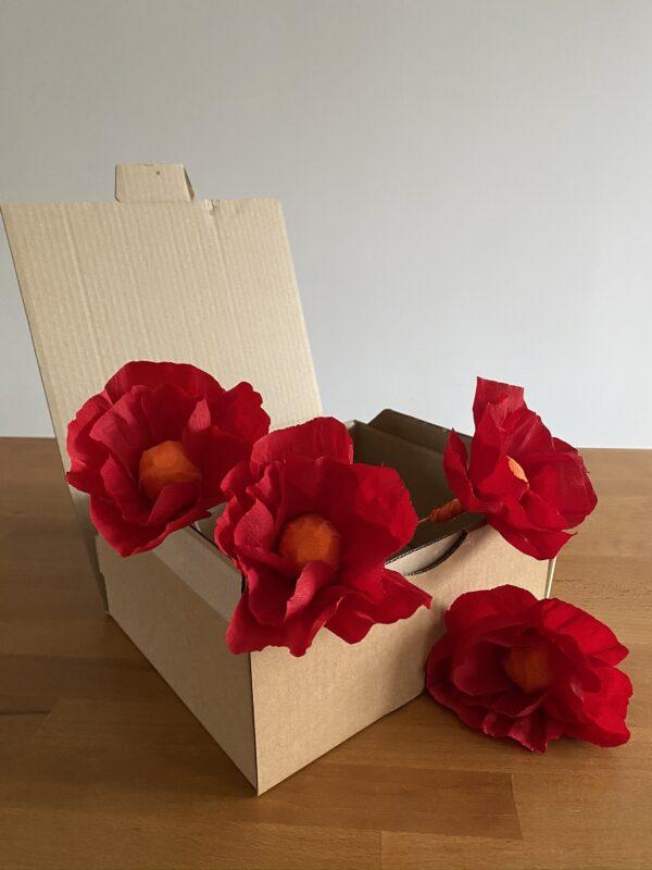 boite en carton fleur en papier