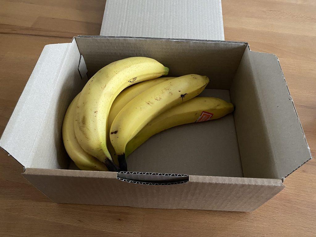 boite en carton banane