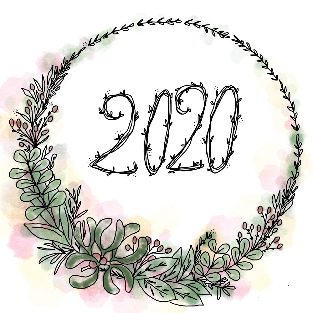 dessin cercle feuilles 2020