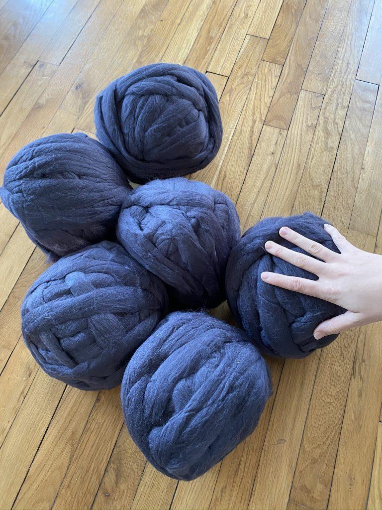 plaid à tricoter sans aiguille