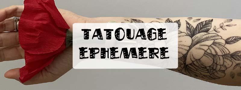 tatouage éphémères : idées déco détournement