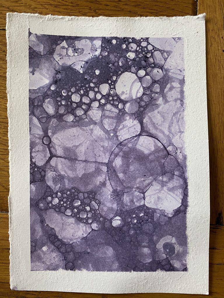 carte peinture aux bulles