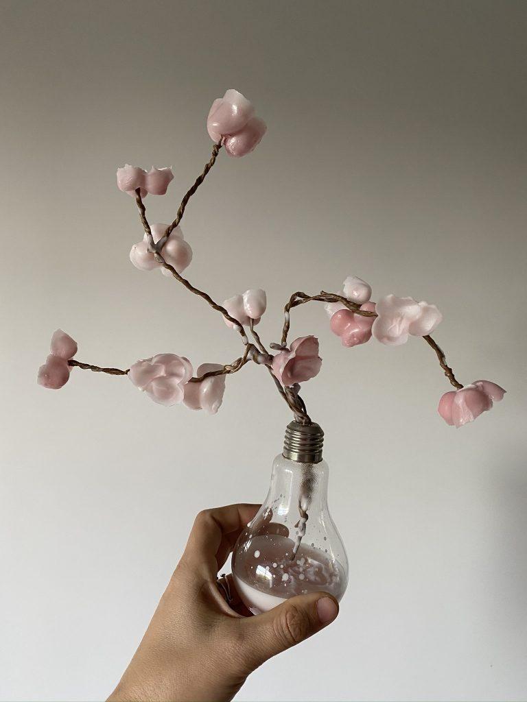 branche de cerisier en cire