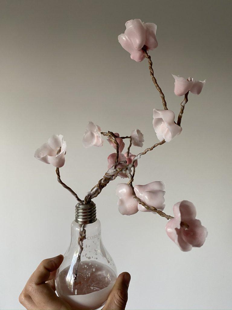 fleur de cerisier en cire