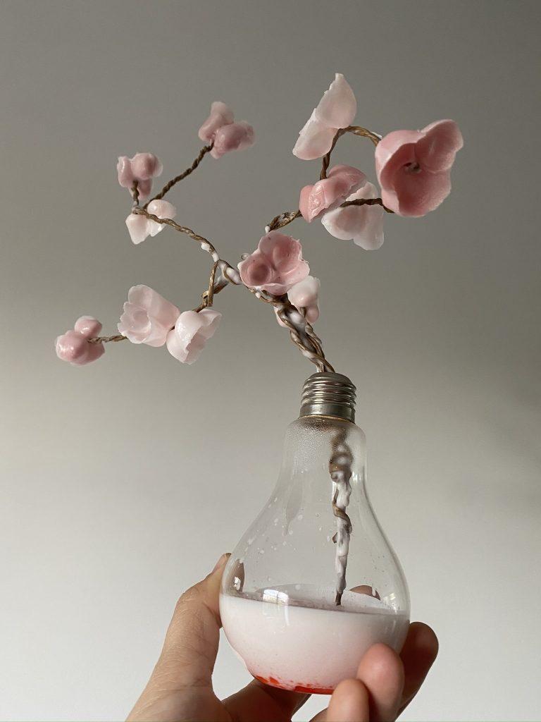 faire des fleurs à partir de cire