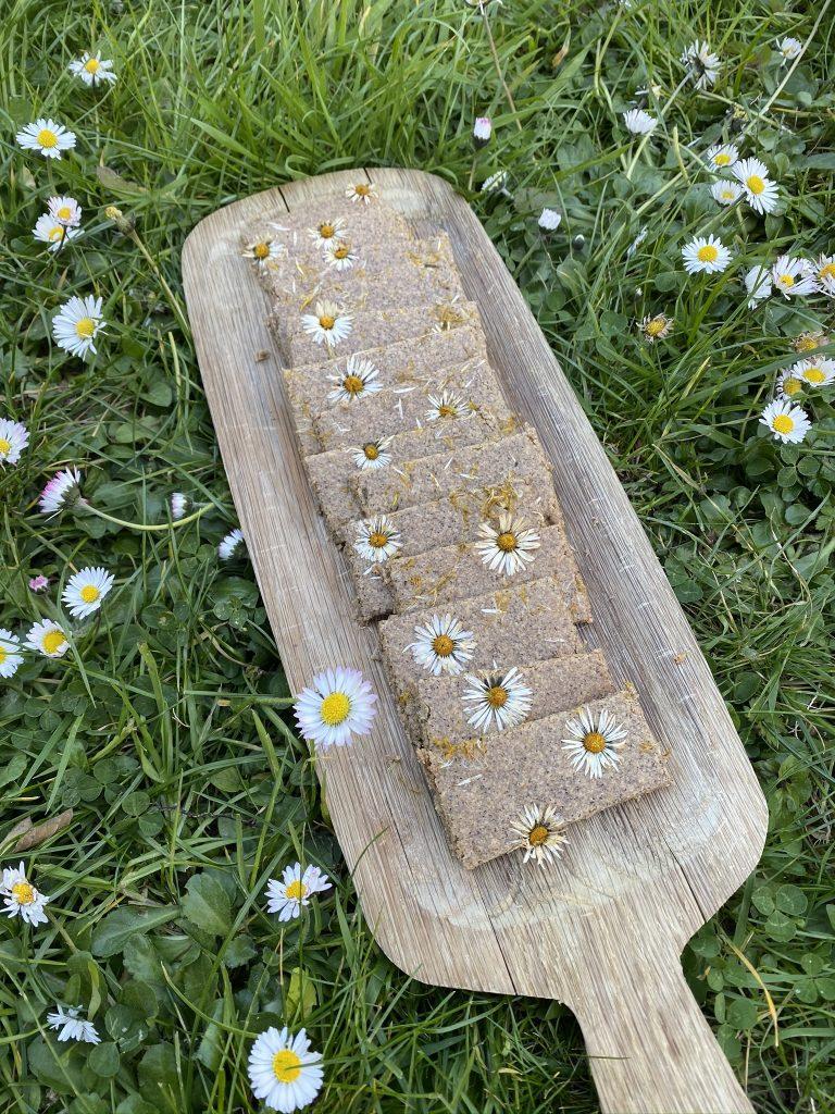 biscuits aux fleurs comestibles